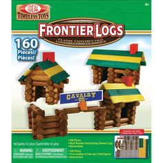 Ideal Frontier Logs 160 pc all wood log building set is a timeless classic toy that the whole family will enjoy. Manufactured by Ideal.