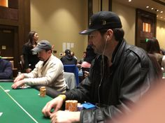 At the table with Phil Hellmuth, again.