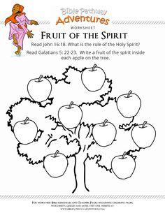 Enjoy Our Free Bible Worksheet Fruit Of The Spirit Fun For Kids To Print