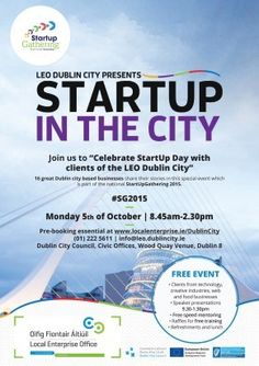 LEOs show their supposrt for announcing their Dublin events on localenterprise. Dublin Events, Dublin City, City Chic, Leo, September, How To Plan, Lion