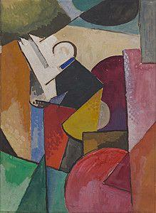 Albert Gleizes - Musician (Florent Schmitt), 1915 Cubist art that influenced the modernist architects