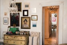 Like his home goods shop, the designer's apartment has an antique feel, with nicotine-stained walls and layers of patina.