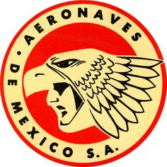 Aeronaves de Mexico Luggage Sticker, via Flickr.