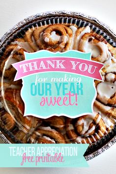 This is a great teacher appreiciation gift-thank you for making our year sweet! (free printable) #happymoneysaver #happythoughts
