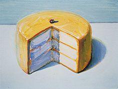 Wayne Thiebaud Cakes   Wayne Thiebaud, Lemon Cake, ca. 1983. Collection of Paul LeBaron ...