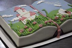 Open book cake, princess - by My Michaela Salminen