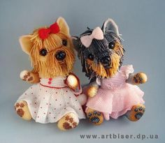 Ульяна Волховская . These are so cute. Look at the detail in their paws and face.