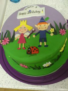 Ben and Holly cake I made for Vi's birthday