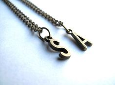 Initial Necklace Name Necklace Letter by HomeGrownIllinois on Etsy, $10.00