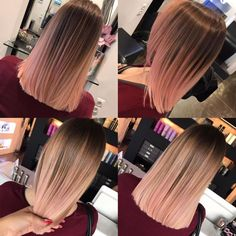 These updo balayage highlights are stylish. These updo balayage highlights a Brown Ombre Hair, Ombre Hair Color, Cool Hair Color, Black Ombre, Ombre Rose, Beliage Hair, Coiffure Hair, Braids For Black Hair, Pink Hair