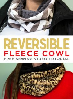 Free Video Tutorial! Make a Reversible Fleece Cowl Neck Warmer with Shannon Fabrics Cuddle Cloth!