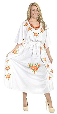 Rayon Hand Paint Lounge Caftan Women Beach Night Gown Kimono Cover Up Orange Valentines Day Gifts 2017 >>> Be sure to check out this awesome product. Maternity Swimwear, Maternity Dresses, Bikini Cover Up, Kimono Dress, Beachwear For Women, Plus Size Swimwear, Summer Wear, Night Gown, Evening Gowns