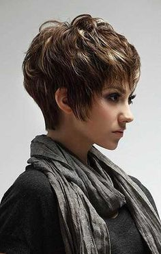 Trendy short layered hair