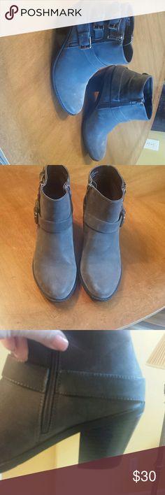 Nicole booties Grey booties Nicole Miller Shoes Ankle Boots & Booties