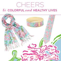 """""""Lilly Loves Hope,"""" our exclusive American Cancer Society Print (20% of the sales price donated to ACS)"""
