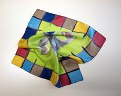 Pañuelo de seda pintado a mano-Regalos para ellas-Pañuelo pequeño seda pintada (45x45)-Regalo para el Día de la madre