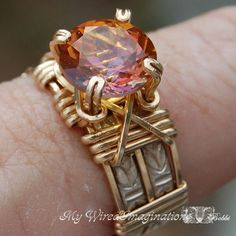 Wire Wrapped Ring Directions | Fancy Band - Wire Wrapped Prong Ring