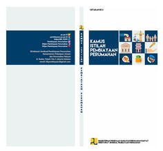 Simple Formal Book Cover for Housing Finance Glossary | Kamus Istilah Pembiayaan Perumahan | 125 x 254 x 7 mm
