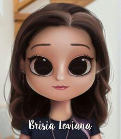 Cartoon, Portrait, Digital Art, Digital Drawing, D Kawaii Girl Drawings, Cute Girl Drawing, Girly Drawings, Cartoon Girl Drawing, Drawing Cartoon Characters, Cartoon Drawings, Cartoon Kunst, Cartoon Art, Princesse Disney Swag