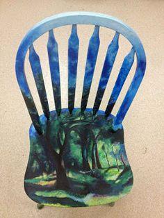 Artist Chair paintings (with art history) /High School Art Ideas