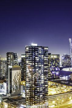 Night Time Photo of Skyline City