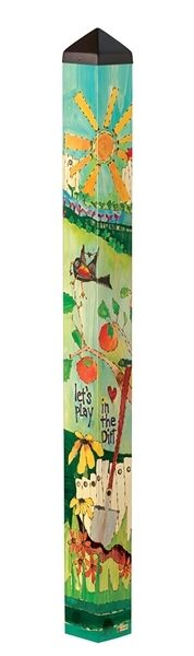Welcome to the Garden 4' Art Pole by Painted Peace | Garden Art Poles | Free Shipping at Quirks of Art