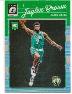 2016-17 Donruss Optic Silver Holo Prizm Jaylen Brown Rookie Card. Boston Celtics.