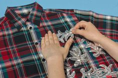 #DIY a holiday-perfect plaid shirt for an easy wardrobe upgrade!