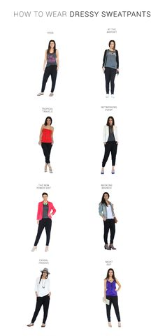 Need a blazer, obvi. How to wear Harem Pants. Styling ideas and outfits for work using harem pants, yoga pants, dressy sweatpants dressy joggers Jogger Pants Outfit Dressy, Black Joggers Outfit, Dressy Sweatpants, How To Wear Joggers, Yoga Pants Outfit, Jogger Sweatpants, Pink Yoga Pants, Khaki Pants, Grunge