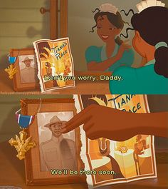 Day Parent- Tiana's Dad, The Princess and the Frog. He was so sweet to her when she was a little girl and he gave her such strong values. Tiana made him proud I'm sure :) Disney Dream, Disney Love, Disney Magic, Disney Stuff, Disney Princess Challenge, Disney Challenge, Disney And Dreamworks, Disney Pixar, Walt Disney