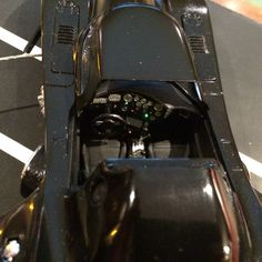 Dashboard of the 1989 Batmobile by Martin's Models.
