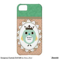 Gorgeous Custom Owl Gift iPhone 5C Covers