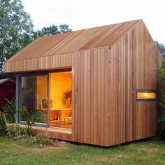 La version studio 2 avec toiture à double pente qui permet l'aménagement d'un véritable espace nuit et une chambre d'amis en plus.