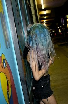 tags: faded dye, pastel hair, seapunk hair, multicolor hair, long hair