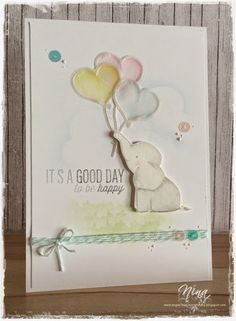 """""""So soft..."""" Avery Elle - Ellie, Mama Elephant - Up and away, Stampin up"""