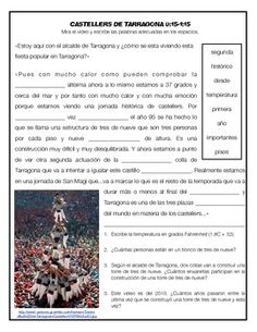Los Castells de Tarragona: Supplemental resources for teaching about human tower festival/tradition in Tarragona, Spain