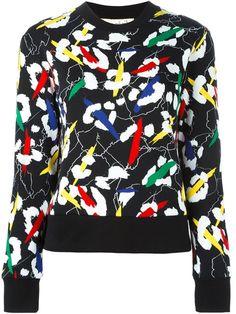 ETRE CECILE abstract print sweatshirt. #etrececile #cloth #sweatshirt