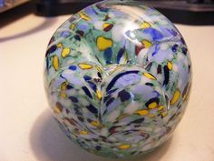 Gentile Co.  Glass vintage Paperweight