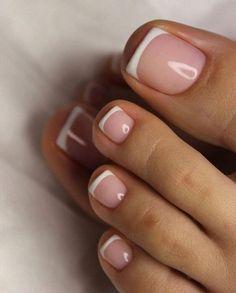 Pretty Toe Nails, Cute Toe Nails, Love Nails, How To Do Nails, My Nails, Simple Toe Nails, Style Nails, Acrylic Toe Nails, Almond Acrylic Nails