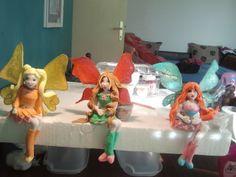 Fondant Winx figurines