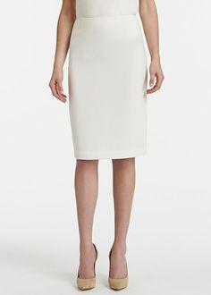 Petite Finesse Crepe Modern Slim Skirt