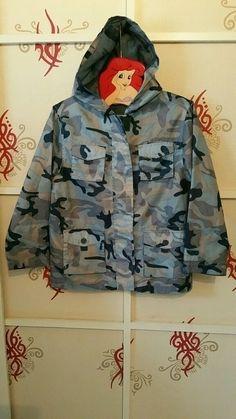 Blaue Camouflage Regenjacke Größe 116-122