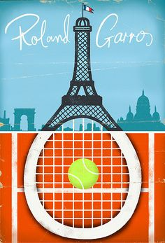 French Open tennis poster