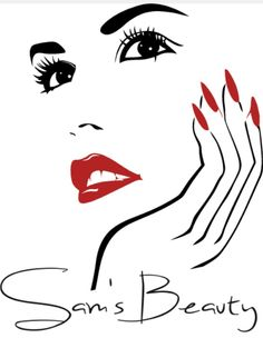 Rina's Glam Studio Nail Salon Decor, Beauty Salon Decor, Salon Art, Beauty Logo, Beauty Art, Pencil Art Drawings, Art Sketches, Nail Logo, Beauty Studio