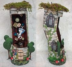 """Artfully Musing: Alice in Wonderland """"Down the Rabbit Hole"""" & Four Alice Themed Domino Books Plus a New Collage Sheet & Digital Image Set Le Terrier, Family Fun Games, Alice In Wonderland Birthday, Tea And Books, Altered Tins, Potato Chip, Assemblage Art, Rabbit Hole, Miniture Things"""