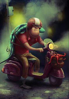 Imágenes de ilustraciones por Aleksey Baydakov