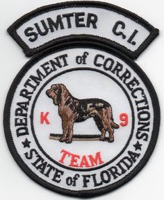 Florida Dept of Corrections FL Police K-9 patch Sumter C.I. Bloodhound unit