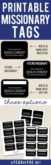 Sweet image throughout printable missionary name tags