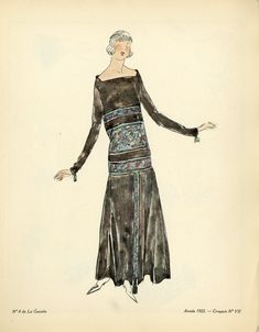 This is an antique fashion plate from the 1920s art deco period, known as a croquis or sketch. It comes from one of the most influential fashion magazines of its time, Gazette du Bon Ton (1912-1925) published in Paris, France. For more information about Gazette du Bon Ton and its influence on fashion in the 1920s, please see the end of this listing.   Click below to view our full inventory of fashion prints! https://www.etsy.com/shop/AntiquePrintBoutique?section_id=14...