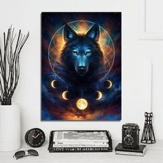 Wolf Dream Catcher - 12 x 16
